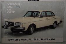 1982 Volvo DL GL GLT Owners Manual