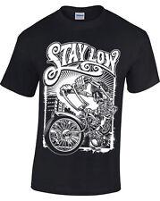 Manténgase Baja T-Shirt Hombre Mujer Biker