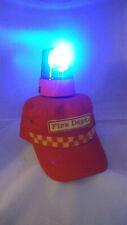 Custom Fireman Disco Party Firefighter Hat Blue Light Festival Fancy Dress Stag