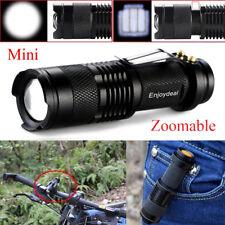 Mini 1200 Lumen Q5 LED Adjustable Zoom Focus Flashlight Torch AA/14500