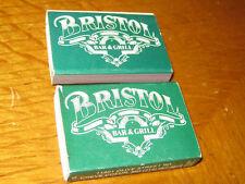 2 Pc Bristol Bar & Grill Creve Coeur MO Matchbooks
