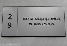 plaque gravée boite aux lettres porte personnalisée 2 lignes + Numéro 150x75MM