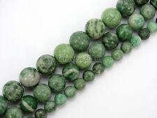 Natural Qinghai Jade Jasper Gemstone Round Beads Strand 15.5'' 6mm 8mm 10mm