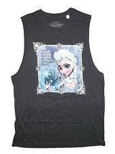 Disney Frozen Freezing Heart Juniors Grey Sleeveless T-Shirt