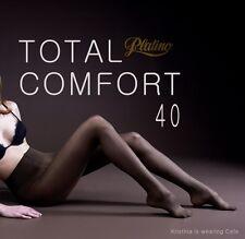 Platino TOTAL CONFORT 40 DEN Comfort Pantyhose Tights Nylons Semi-Opaque Satin