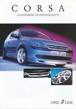 Irmscher Corsa Zubehör Autoprospekt 9/01 Prospekt 4 S. brochure Opel 2001 PKWs