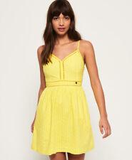 New Womens Superdry Jessie V-Neck Cami Dress Pineapple Yellow
