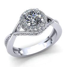 Natural 1.5ct Round Cut Diamond Ladies Bridal Solitaire Engagement Ring 14K Gold