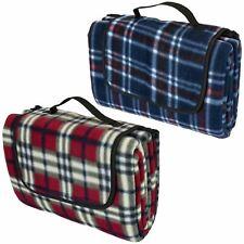 Tartan Picnic Blanket Waterproof Backing Large Folding Camping Mat Travel Rug