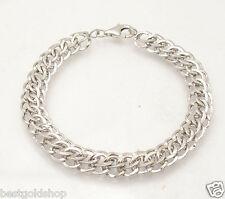 Technibond Domed Hammered Multi Circle Bracelet Platinum Clad Silver 925 HSN