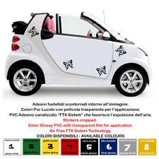 adesivi farfalle pretagliate auto smart 500 moto tuning sticker batterfly 4 pz.
