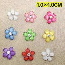 NEW 20pcs 10mm resin flowers flatback Scrapbooking for phone/wedding Crafts li