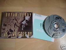 roxy music BRYAN FERRY As Time Goes EU CD single + Info