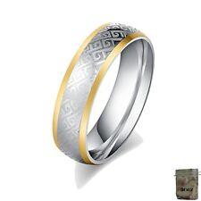 15mm R3301 Original Enez Edelstahlring Ring mit Steinen besetzt B Geschenkbeu
