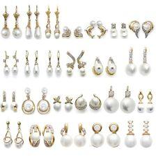 Boucles D'Oreilles et Dormeuses Perle de CULTURE Plaqué OR BIJOUX au CHOIX