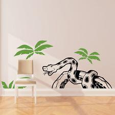 Serpent Autocollant Mural Art Autocollant JUNGLE FOREST thème Enfants Chambre à Coucher Décor w213