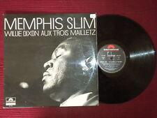 """LP MEMPHIS SLIM """"Willie Dixon aux trois Mailletz"""" µ"""