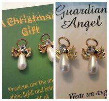 Earrings pierced 20mm Austrian rhinestones Angel Vintage GIFT Colour Choice