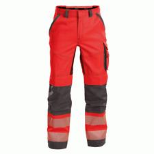 DASSY Odessa 200984 Hi-Vis Kneepad Multi-Pocket Trousers - Red