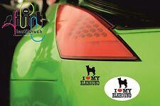 DA 88 -  I love my Elkhound  Hund Dog Aufkleber für Auto Autoaufkleber Sticker