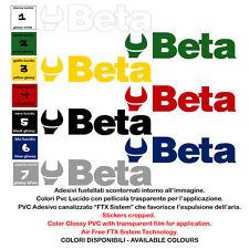 beta sticker sponsor motorcycle helmet adesivi scontornati 1 pz. size 25 cm.