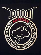 Doom corteza Punk Negro Denim Cut-Off Parche batalla Chaqueta corrupto crímenes de guerra S-4XL