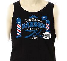 DEBARDEUR BARBER Shop Vintage Retro 50's 60's Barbier Hipster Rock'n'Roll Marcel