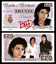 Michael JACKSON banconote di fantasia