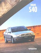 Volvo S40 Saloon 1.6 1.8 2.0 2.0T T4 TD 1998-99 Original UK Sales Brochure