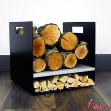 Modern Firewood Log Basket/Carrier for Woodstove Fireplace Wood Holder - UK Made