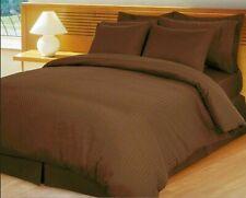 Choose Bedding Item 1000 TC OR 1200 TC Egyptian Cotton Chocolate Stripe US Sizes