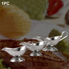 Dish Gravy Boat Salt Hotel Stainless Steel Dripless Lip Vinegar Ergonomic Handle