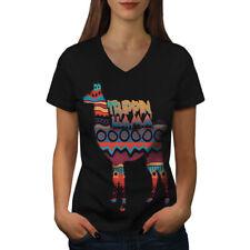Trippin Lama rire Drôle Femmes T-Shirt col V nouveau | wellcoda