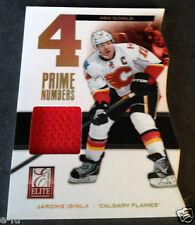 2011-12 Panini Elite 484 Goals JAROME IGINLA Fame Used Calgary Flames Jersey #ed