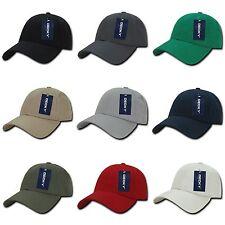 Plain Solid Blank Low Crown Adjustable 6 Panel Cotton Baseball Golf Ball Hat Cap