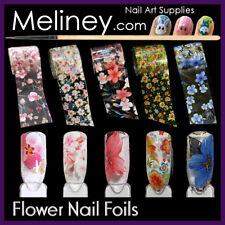 Flower Nail Art Transfer Foils Holographic Floral Transparent set sticker Nails