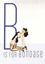 Década de 1950 Vintage Pin-Up Girl B Para Bondage cartel impresión A3/A2
