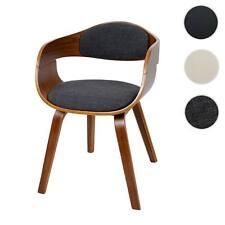 Sedia HWC-A47 design elegante legno curvato faggio ecopelle/tessuto