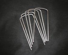 Metal Pegs U Pins  Grass Protection Mesh Mat Fixings 180mm x 80mm x 180mm