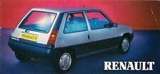 Renault Early 1985 UK Market Sales Brochure 4 5 9 11 18 Fuego 25 Trafic Master