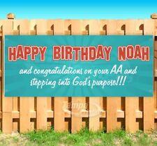 Happy Birthday Noah Customize Advertising Vinyl Banner Flag Sign Many Sizes