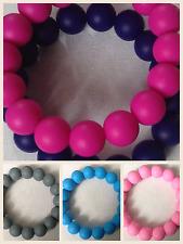 Baby Silicone Chewable Teething Bracelet Bangle for Nursing Mums *UK seller