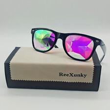 Square Kaleidoscope Glasses Rainbow EDM Rave Light Diffraction Festival Eyewear