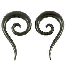 COPPIA! 4mm o 6mm Falciole Claws CORNO chirurgico Flesh Tunnel Plug Orecchio Ear Piercing 021
