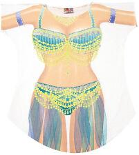 Belly Dancer Bikini Cover up T-shirt Lady's Fun Wear