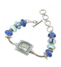 trendige Damen-Armbanduhr mit Glas-Beads, Farbwahl
