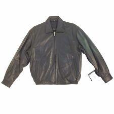 Excelled, Vintage, Men's Genuine Leather Bomber (Short) Jacket, Black, Assorted