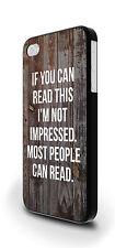 Se è possibile leggere questo Divertente Slogan Cover Custodia Per iPhone 4/4s 5/5s 5c 6 6 Plus