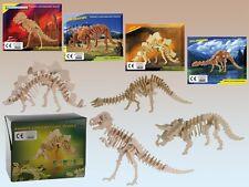 ESQUELETO DE DINOSAURIO DE Puzzle - T-Rex, triceratops ETC - Infantil Madera 3d