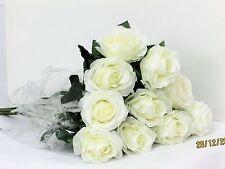 SINGLE STEM ARTIFICIAL/SILK FLOWER ROSE WEDDING Floral Posy Home Garden Decor